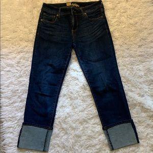 Kut cuffed stretch jeans size 4